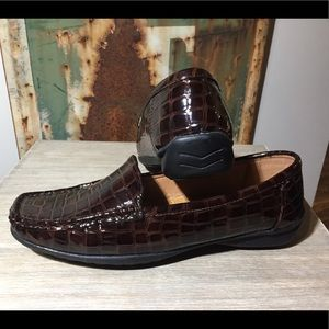SALE❗️Pierre Dumas Brown Crocodile Loafer